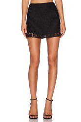 Lucca Couture Lace Skirt Black