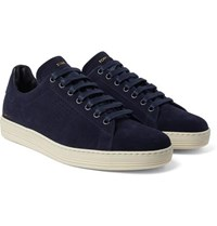 Tom Ford Warwick Suede Sneakers Midnight Blue