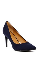 14Th And Union Pointed Toe Heel Navy Faux Suede