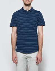 Native Youth Multi Stripe Polo Indigo