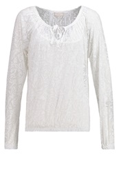 Cream Janne Long Sleeved Top Chalk Off White