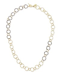 Midnight And 18K Circle Link Necklace Armenta Black