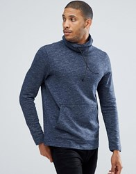 Tom Tailor Sweat With Funnel Neck In Blue 6576
