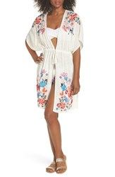 Echo Wildflower Cover Up Tunic White
