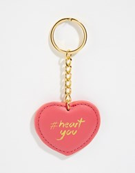 Asos Valentines Heart You Key Ring Pink