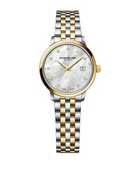 Raymond Weil Ladies Toccata Silver And Goldtone Diamond Watch Two Tone