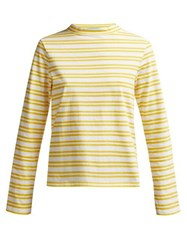 M.I.H Jeans Emelie Striped Cotton Top Yellow Stripe