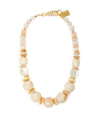 Lizzie Fortunato Quarry 18Kt Gold Plated Necklace Pink