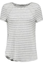 Tart Collections Liane Striped Stretch Modal Jersey T Shirt Gray