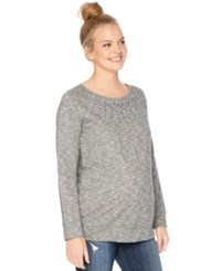Motherhood Maternity Embellished Sweatshirt Charcoal
