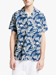 Maison Labiche Printed Hawaii Shirt Navy Off White