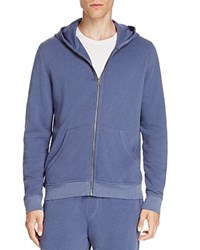 Atm Anthony Thomas Melillo French Terry Zip Hoodie Blue