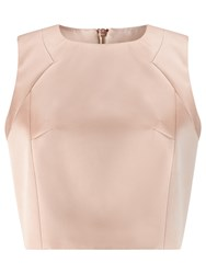 Jacques Vert Satin Stretch Shell Top Almond