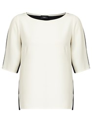 Marella Fiordo Contrast Top White Black