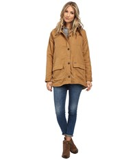Obey Fairfield Jacket Bone Brown Women's Coat Yellow
