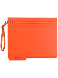 Helmut Lang Clutch Bag Yellow And Orange