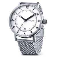 Bravur Watches Bw001 Silver Milanese White Dial Watch