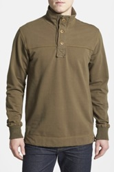 Jeremiah 'Taylor' French Terry Mock Neck Pullover Green