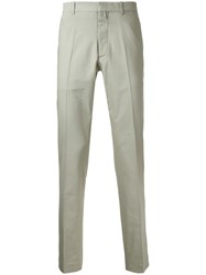 Jil Sander Classic Tailored Trousers Green