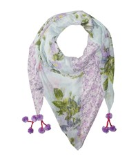 Steve Madden Coco Floral Patched Day Wrap Lavender Scarves Purple