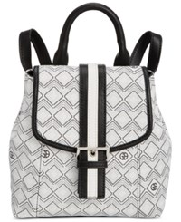 Giani Bernini Graphic Signature Convertible Backpack Only At Macy's White Black