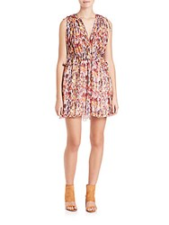 Iro Plum Printed Sleeveless Dress Orange