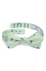 Southern Tide Littleton Lacrosse Silk Bow Tie Green
