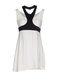 1 One Topwear Tops Women White