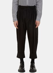 J.W.Anderson Oversized Pleated Balloon Pants Black