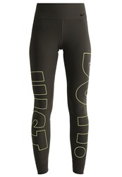Nike Performance Legend Tights Sequoia Volt Dark Green