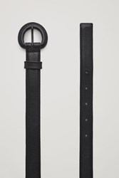 Cos Covered Buckle Leather Belt Black