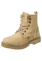 Buffalo Laceup Boots Tan Light Brown