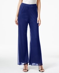 Msk Mesh Wide Leg Dress Pants Navy