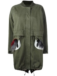 Bazar Deluxe Fur Pockets Parka Green