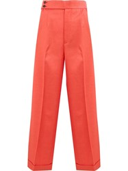 Undercover Flared High Waisted Trousers Orange
