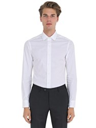 Salvatore Piccolo Slim Fit Cotton Poplin Shirt