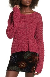 Band Of Gypsies Women's Knit Sweater Rouge