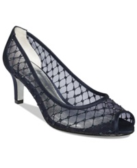 Adrianna Papell Jamie Evening Pumps Women's Shoes Navy