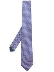 Lanvin Classic Patterned Tie Pink And Purple