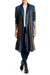 14Th And Union Wave Long Cardigan Petite Gray