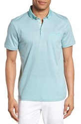 Ted Baker Men's London Zobelle Chevron Polo Mid Green