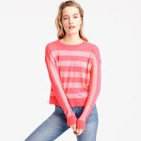 J.Crew Italian Featherweight Cashmere Striped Sweater