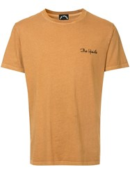 The Upside Logo Embroidered T Shirt Yellow