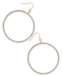Thalia Sodi Gold Tone Pave Gypsy Hoop Earrings Only At Macy's