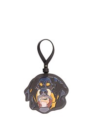 Givenchy Rottweiler Leather Key Ring Black Multi