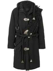 Craig Green Cross Panel Oversized Hooded Coat Cotton Feather Down Nylon Polyester L Black