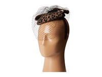 Scala Wool Felt Animal Print Fascinator Brown Caps