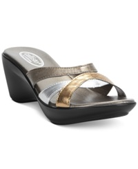 Callisto Jet Wedge Sandals Women's Shoes Metal Metallic