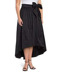 Eliza J Plus Belted Hi Lo Skirt Black