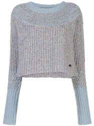 Raquel Allegra Two Tone Crop Sweater 60